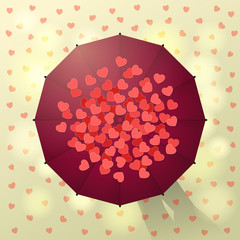 Umbrella and hearts