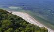 canvas print picture - Blick vom Dornbusch auf den Strand