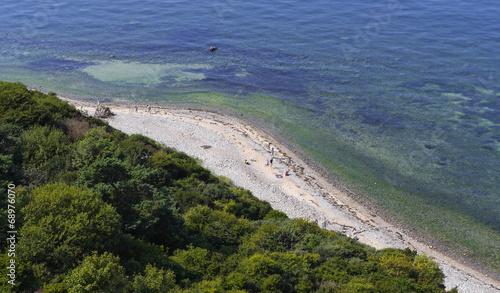 canvas print picture Blick vom Dornbusch auf den Strand