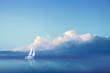 Leinwanddruck Bild - Voilier en Pleine Mer
