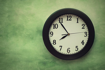 Wall clock on surreal background