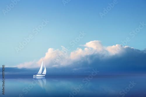 Foto op Plexiglas Jacht Voilier en Pleine Mer