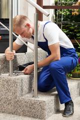 Repairman at work