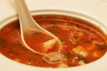 soup with meat and vegetables