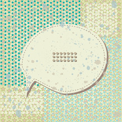 Speech bubble on star background. Vector illustration