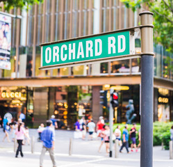 "street sign that read "" Orchard Road"""
