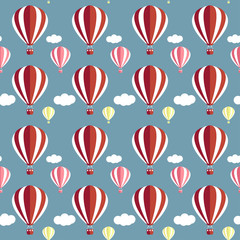 hot air balloons pattern background