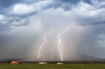 A Pair of Lightning Bolts in the Foothils
