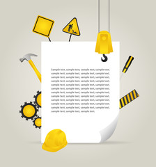 construction elements with paper page