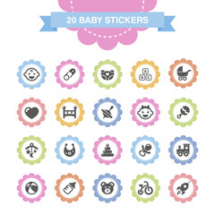 Baby stickers.