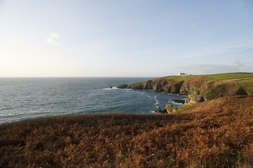 Lizard Point in Cornwall, UK