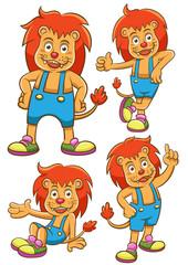 lion cartoon set