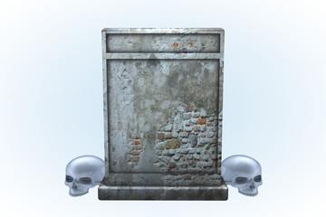 Damaged Brick Wall Tombstone Series I