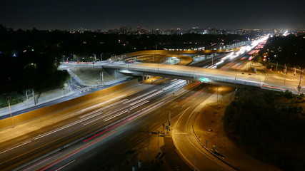San Diego 405 Freeway Night - Los Angeles