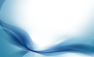 Abstract blue and cyan wave background (Smooth and soft design)