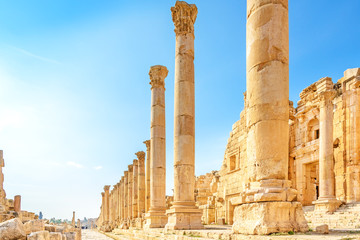 Gerasa in the ancient Jordanian city of Jerash, Jordan