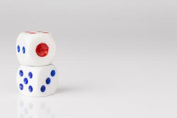 double white dice