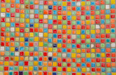 Mosaic tiles of Colorful  for background