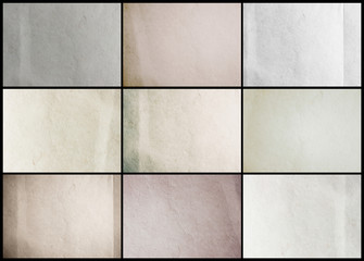 Collection paper texture background