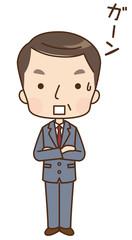 男性 ビジネスマン 表情