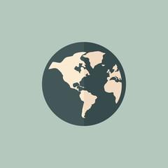 Flat Earth Icon