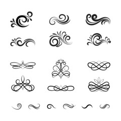 Vintage Vector Decorative Elements and Ornaments