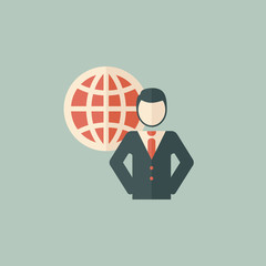 Global Business Flat Icon