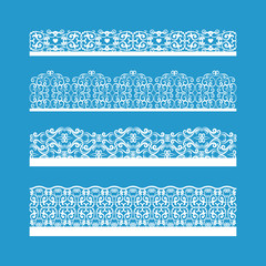 Seamless Vector Decorative Vintage Borders