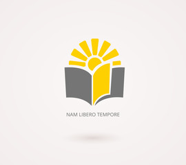 Education Concepts. Yellow and Gray Knowledge Icon