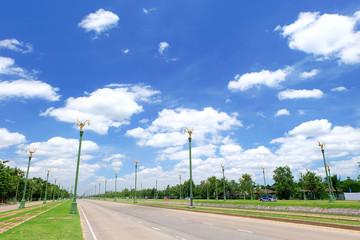 beautiful road in bangkok