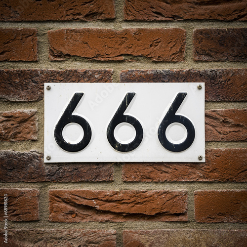 Number 666 Poster