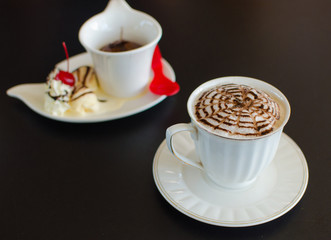 Hot Chocolate in cafe