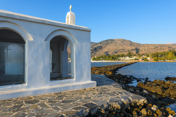 White Church By Sunrise In Crete