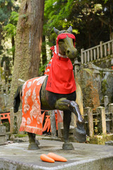 stone horse statue