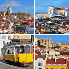 Landmarks of Lisbon, Portugal