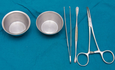 Surgeon and Surgical instruments in operation