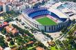 Leinwanddruck Bild - Largest stadium of Barcelona from helicopter. Catalonia