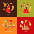 Spain icons composition set - 68982845