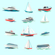 Boats icons set - 68982855