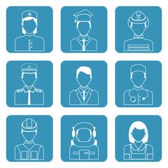 Professional avatar icons set