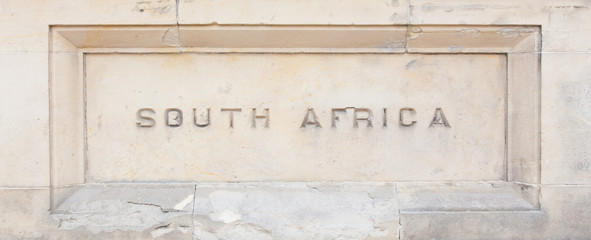 """South Africa"" carved in granite"