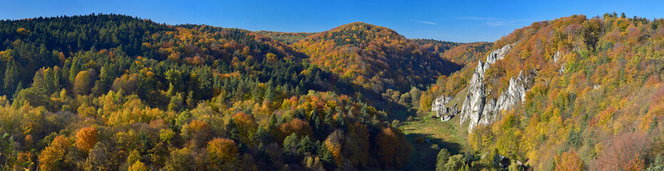Autumn in Ojcow National Park.