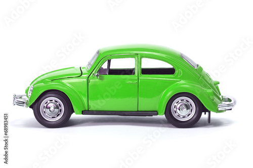 Deurstickers Vintage cars green car