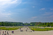 Wide view of Schenbrunn park and palace in Vienna