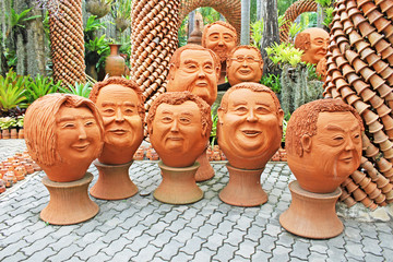 The strange pots sculpture in Nong Nooch, Pattaya, Thailand