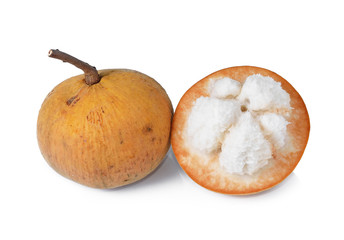 Santol fruit isolated on white background