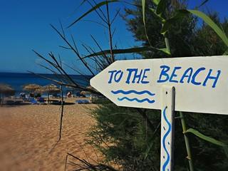 Cartello per la spiaggia