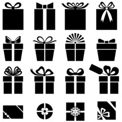Set of gift icon