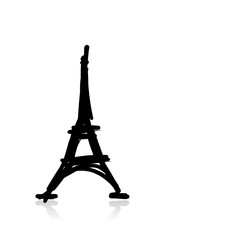 Sketch of eiffel tower for your design