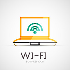 Wifi company logo, business concept